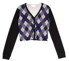 Argyle V-neck cardigan