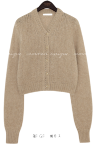 CINE ALPACA V NECK KNIT CARDIGAN