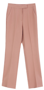 Modern Basic Slacks; Cream