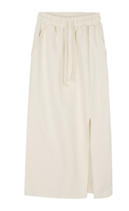 Teddy slit banded midi skirt