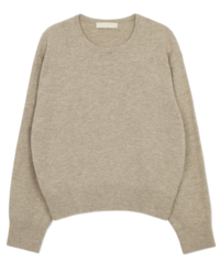 Simple Neck Cashmere Round Knit 針織衫