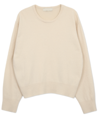 Simple Neck Cashmere Round Knit