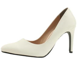 Stiletto basic high heel shoes 9cm white