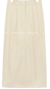 ALTO PINTUCK COTTON LONG SKIRT