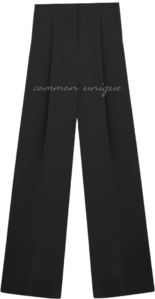 Semi-Banded Waist Straight Slacks