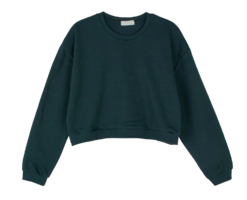 Monday cropped crew neck sweatshirt 長袖