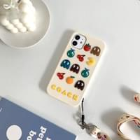 Pac-Man three-dimensional silicone necklace strap iPhone case