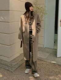 About Handmade Single Wool Coat