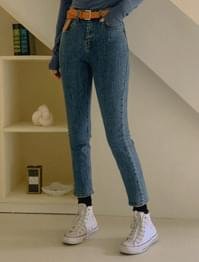Jimmy Van High Waist Slim Fit Denim Pants
