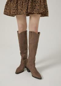 Chenins suede western long boots