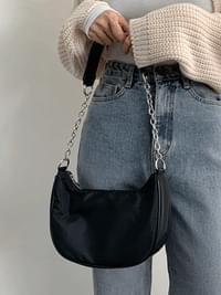 Twill Chain Shoulder Cross Bag