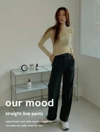 Hour high waist straight slacks