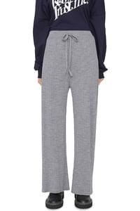 Mad ribbed-knit trousers