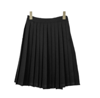 Pleated retro midi skirt