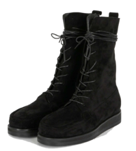 Street lace-up walker boots