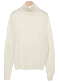 Natural Angora Turtleneck Knitwear