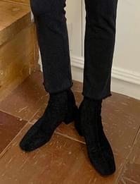 Suede socks ankle boots