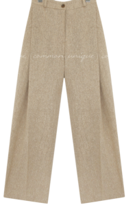 PARO WOOL BOKASHI PINTUCK PANTS
