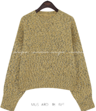 SHERBET BOKASHI LOOSE FIT KNIT