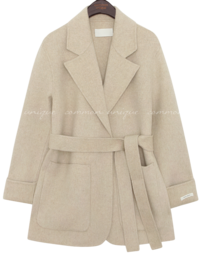 HAND MADE WOOL 90% ROBE COAT
