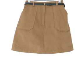 Golden A-line skirt pants
