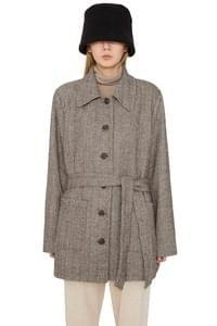 Eve herringbone single short coat
