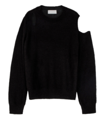 Malve Shoulder Split Crew Neck Knit