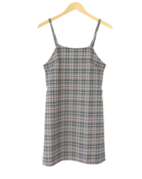 Slim Bustier Check Dress