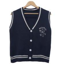 Detti color button knit vest