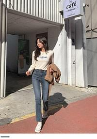 If you are looking for basics, slim flat denim pants