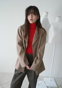 round silhouette over jacket