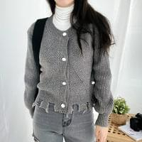 Thuanbal point button knit cardigan