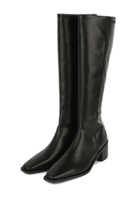 Live brushed middle heel long boots