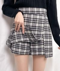 Mochi check skirt pants