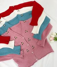 Awesome Flower Knit Cardigan