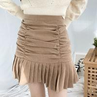 Cuber shirred pleated mini skirt