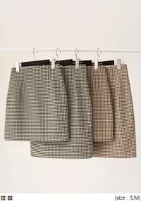 High Waist H-Line Check Skirt
