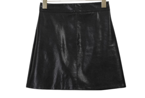 Leather thyme mini skirt