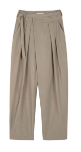 Jia Buckle Pintuck Slacks