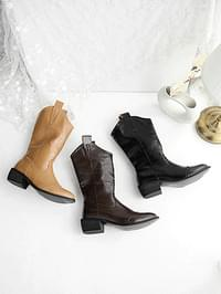 Laetin Western Middle Boots 4cm