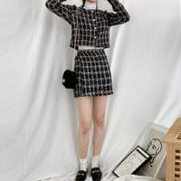 C-sha tweed mini skirt