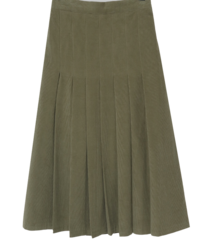 Corduroy pleated long skirt 裙子