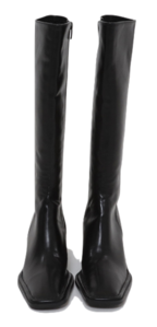Stitch Point Square Long Boots