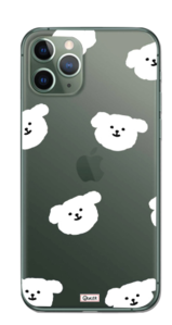 Cotton Ball Pattern Transparent Jelly iPhone Case