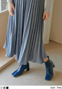 Cami Strap Pleated Long Dress