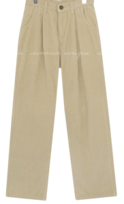 Loose Leg Corduroy Pants