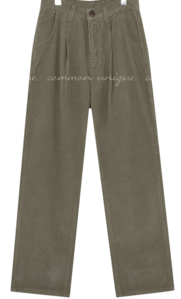 CARAMEL CORDUROY WIDE PANTS