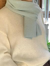 Daily Ribbed wide scarf
