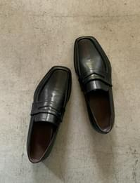 Classic black penny loafers