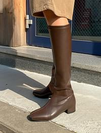Half Square Slim Long Boots